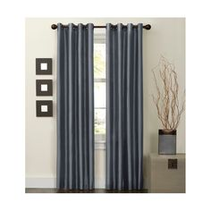 """The Thermal Shield Jardin Thermal Lined Room Darkening Faux Silk Curtain Panel protects interiors from cold temperatures and light pollution. This thermal curtain panel measures 50"""" by 63"""". Faux silk curtain fabric adds a bit of classic style to this functional solution to light pollution and chilly weather. It's an attractive—and easy—way to create a dark and cozy interior."""