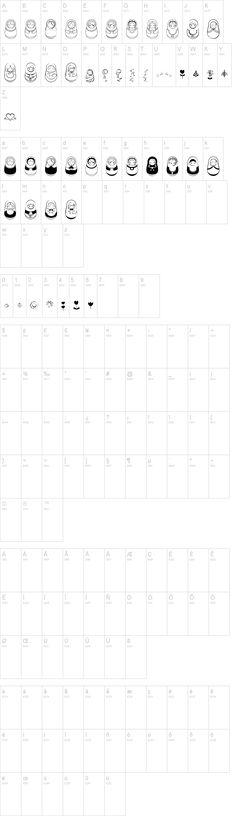 Matriochkas font