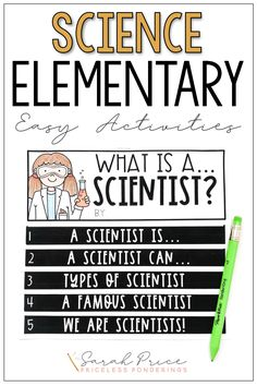 This easy to use flipbook is full of engaging activities will help you teach your students what a scientist is and what scientists do.