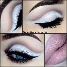 ❄️Winter wonderland ❄️ This trendy cut crease look has been done by many muas. I've made it my own by using #motives eyeshadows, #anastasiabeverlyhills brows, & #ohmylash lashes. Eyeliner is #loreal gel liner. I feel this look compliments any eye color or shape!  Yay or nay?  - @withloveasmaaa- #webstagram