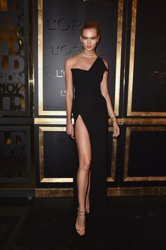 Karlie Kloss Shows Some Leg at the Gold Obsession Paris Fashion Week Party