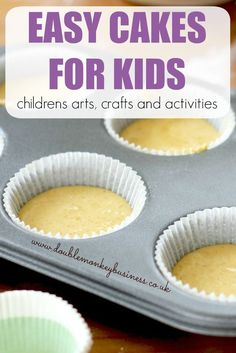 Looking to keep the little ones occupied on a rainy day? Why not try these easy cakes for kids. They take no time to do and the kids can help to make them
