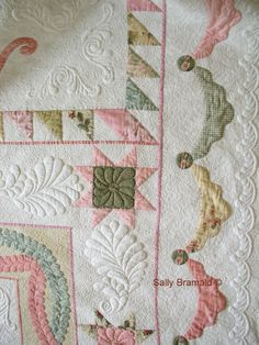 Feather On A Wire: Show Quality Quilts - Quilt title is Nostalgia by Sally Bramald.  It won several ribbons in the UK and 2nd in country in the World Quilt show.