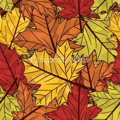 autumn pattern--stock vector @ plutofrosti #31165699