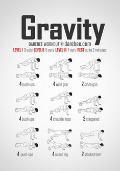 gravity (push-up) bodyweight workout for all fitness levels. Visual guide: print & use.No-equipment gravity (push-up) bodyweight workout for all fitness levels. Visual guide: print & use. Arm Workout No Equipment, Arm Workout Men, Chest Workout For Men, Sixpack Workout, Push Up Workout, Gym Workout Tips, Fitness Workouts, Fitness Tips, Fitness Motivation
