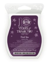 Thank You Scentsy Bar  Soothing chamomile, lavender, and jasmine in sweet vanilla envelop like a warm embrace. Enjoy this month's fragrance at a 10% discount.