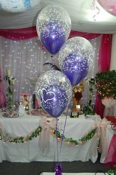 Wedding - 36 Balloon Kit-Double Bubble Cadburys Purple Hearts