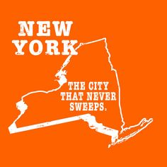 New York slogan shirt THE CITY THAT NEVER SWEEPS   by StateSloganTees