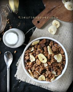 Banana Walnut Grain-Free Granola (Paleo, Gluten free, vegan options)