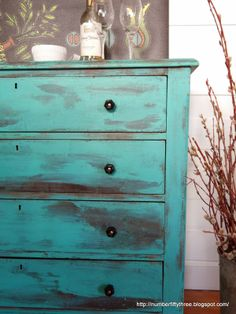Number Fifty-Three: Patina Green Antique Dresser