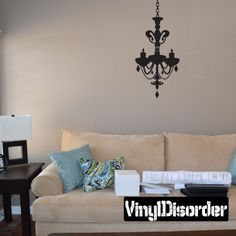 Chandelier Wall Decal - Vinyl Decal - Car Decal - Mv004