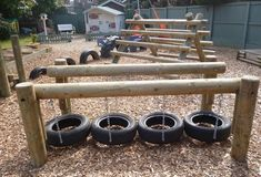 Playground in the garden - very fun DIY ideas playground # outdoors Best Picture For Outdoor play areas sand For Your Taste You are looking for something, and it is Kids Outdoor Play, Outdoor Play Spaces, Kids Play Area, Backyard For Kids, Outdoor Fun, Natural Playground, Backyard Playground, Playground Ideas, Water Playground