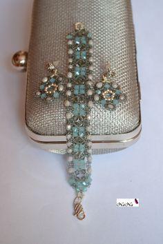 Conjunto de pulsera y pendientes/ Bracelet & Earrings Set