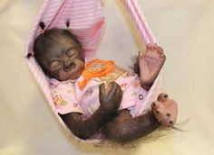 This Pearl Gorilla is already painted and rooted! - We are adding new reborn doll supplies weekly. If you need something you don& see, chances are that we have it and just haven& listed it yet. Reborn Baby Boy Dolls, Reborn Doll Kits, Reborn Babies, Monkey Doll, Cute Monkey, Baby Orangutan, Orangutans, Bountiful Baby, Clay Baby