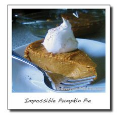 Blender Impossible Pumpkin Pie: Powdered Milk Food Storage Recipes