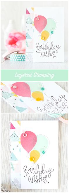 Layered stamping creates different colors where the stamping overlaps. Find out more by clicking on the following link: http://limedoodledesign.com/2015/08/layered-stamping-2/