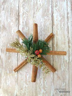 DIY Ornaments: Cinnamon Stick Snowflakes