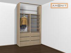 Ukázka vnitřního uspořádání vestavěné skříně - 11. varianta