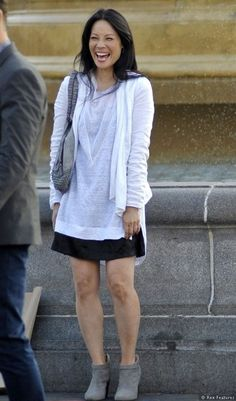 lucy lu in elementary | Lucy Liu filming in Trafalgar Square (July 10)
