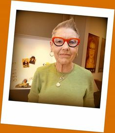 "Photo: Lot's of fun in store today. 72 year old Jilly with her brand new L.A. Eyeworks ""Kitchen"". Advanced style live!!! Well done Jilly, you are the best!  #Kuske #KuskeEyewear #Nelson #laEyeworks #Kitchen"
