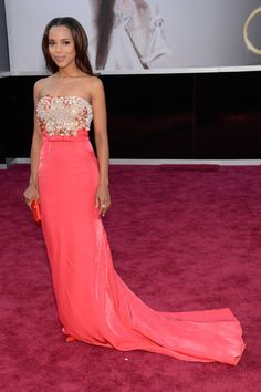 Gorgeous Kerry Washington at the #Oscars  love this dress!