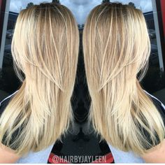Blonde balayage hair, balayage hair, blonde highlights, baby lights, bronde…