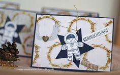 Weihnachtspost Weihnachtskarte Eskimo Ausgestochen weihnachtlich Lebkuchenmännchen Stampin Up