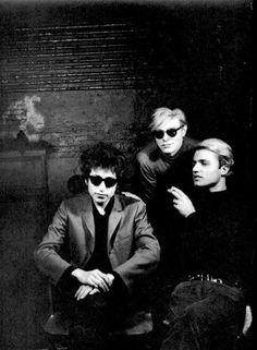 Bob Dylan, Andy Warhol and Gerard Malanga, 1965