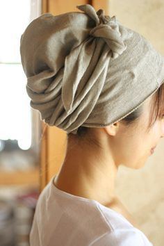 headscarf made out of jersey material- kind of a t-shirt tichel!