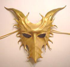 Gold Leather Dragon Mask by teonova on DeviantArt