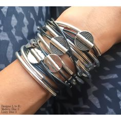 Lizzy James makes stacking your wrap bracelets easy with every style flattering & complimenting one another.   http://lizzyjames.com/products/modern-disc-3-bracelet-necklace