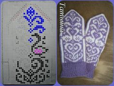 Knitted Mittens Pattern, Knit Mittens, Mitten Gloves, Knitting Socks, Hand Knitting, Knitted Hats, Knitting Charts, Knitting Stitches, Knitting Patterns