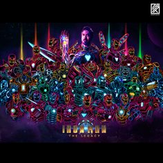 Since the last 29 days I have been making one Iron Man artwork everyday. For the day I compiled all of them into one giant poster. Hope y'all like it :) - ImaginaryMarvel Marvel Comics, Marvel Comic Universe, Marvel Cinematic Universe, Marvel Avengers, Logo Super Heros, Iron Man Series, First Iron Man, Iron Man Art, Neon Artwork