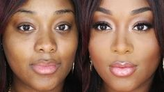 makeup for black women beginners - YouTube