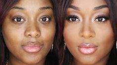makeup for black women beginners - YouTube