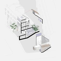 the-tailored-house-liddicoat-goldhill-kensington-london-will-scott_dezeen_diagram. Mini Clubman, Architecture Graphics, Architecture Drawings, Archdaily Mexico, Kensington London, Victorian Terrace, Dezeen, Interior And Exterior, House Plans
