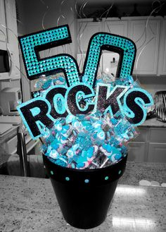 "50th Birthday.  (This one was specifically asked to say ""Rocks"" rather than ""Sucks"".)  -MadeByKristinaMaldonado"