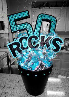 "50th Birthday.  (This one was specifically asked to say ""Rocks"" rather than ""Sucks"".)  -MadeByKristinaMaldonado"