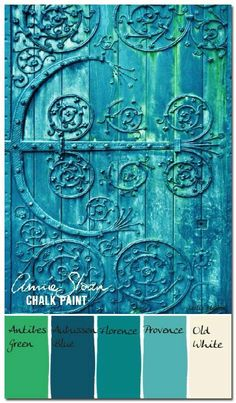 DIY Chalk Paint Furniture Ideas With Step By Step Tutorials - Verdigris Antique Door - How To Make Distressed Furniture for Creative Home Decor Projects on A Budget - Perfect for Vintage Kitchen, Dining Room, Bedroom, Bath Antibes Green, Chalk Paint Projects, Chalk Paint Furniture, Paint Ideas, Annie Sloan Painted Furniture, Chalk Ideas, Diy Projects, Decoration Palette, Pallets