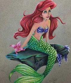 Disney Tattoo – Little Mermaid Ariel Disney, Walt Disney, Disney Merch, Mermaid Disney, Disney Little Mermaids, Ariel The Little Mermaid, Mermaid Art, Disney Girls, Ariel Mermaid