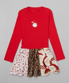 Look at this #zulilyfind! Red Libby Ann Dress - Toddler & Girls by Beary Basics #zulilyfinds