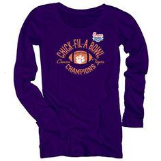 Clemson Tigers Ladies 2012 Chick-fil-A Bowl Champions Long Sleeve T-Shirt!