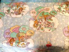 1984 Vintage Care Bear Cousins American Greeting Child's Blanket FULL 70x90 #AmericanGreetingCorp
