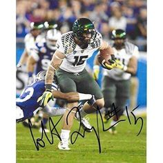 Colt Lyerla, Oregon Ducks, Ou, Signed, Autographed, 8x10 Photo, a Coa with the Proof Photo of Colt Signing Will Be Included..
