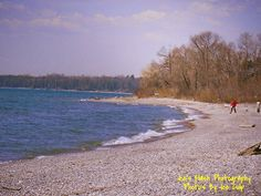 Picturesque Scenery along the shores of lake Ontario in Cobourg Ontario