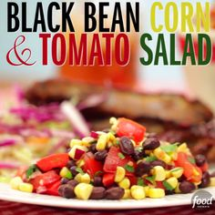 This super easy Black Bean, Corn & Tomato Salad is great for any occasion! After prepping, let the salad sit for 30 minutes to allow the flavor to intensify.