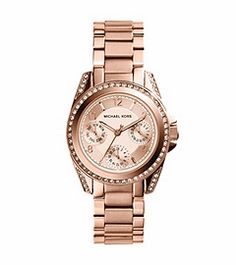 Mini Blair Rose Gold-Tone Watch by Michael Kors