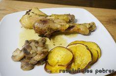 Frango do campo no forno c/ tomilho, mostarda e limão   ratatui dos pobres