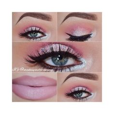 Step by step eye makeup PICS. My collection ❤ liked on Polyvore featuring beauty products, makeup and eye makeup