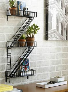 Fire Escape Shelf from Uncommon Goods